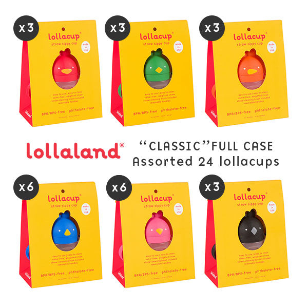 Lollaland - 24 Lollacups - Full Case with Chic BLACK