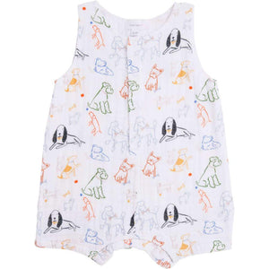 Angel Dear Blue Whale Shortie Romper Blue