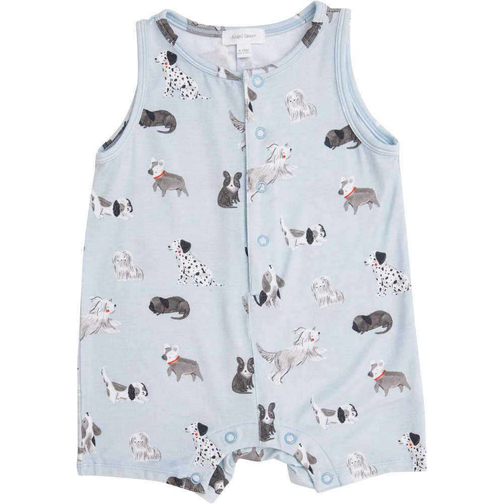 Angel Dear Grey Hounds Shortie Romper Grey