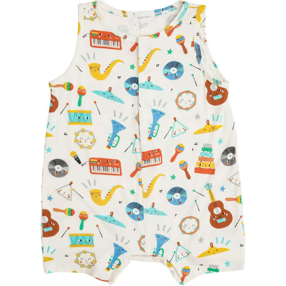 Angel Dear Happy Music Shortie Romper
