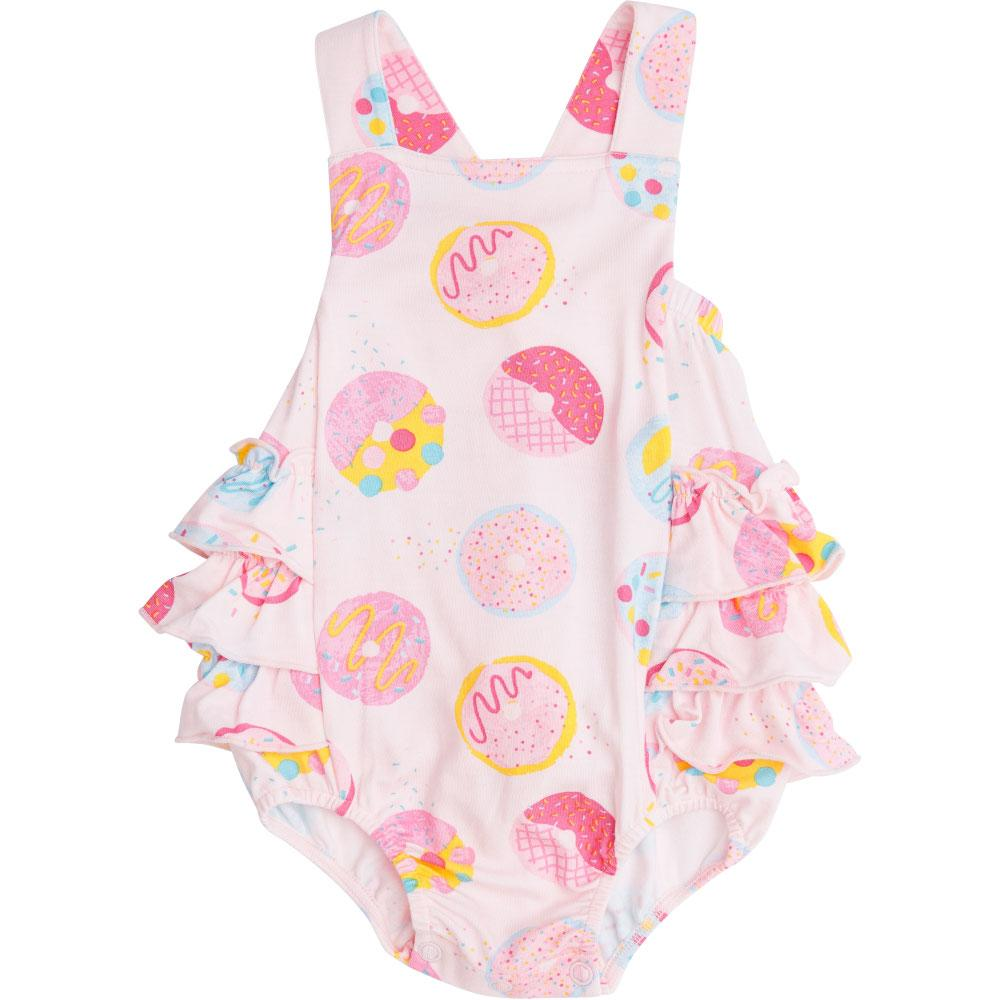 Angel Dear Donuts Ruffle Sunsuit Pink