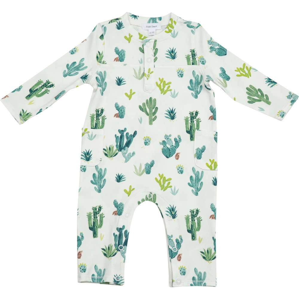 Angel Dear Cactus Romper Ivory