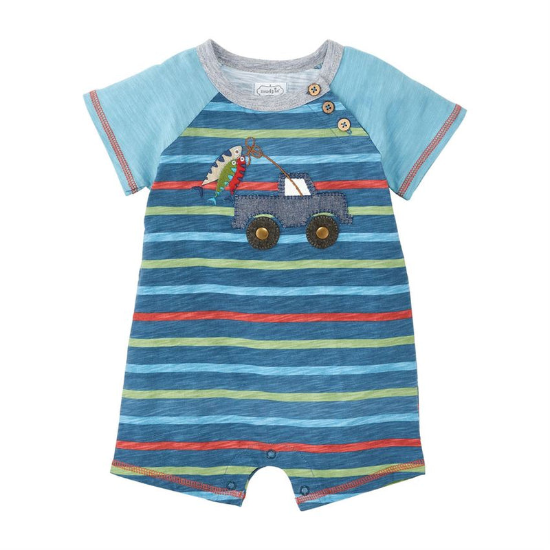 Mud Pie Fishing Truck Shortall