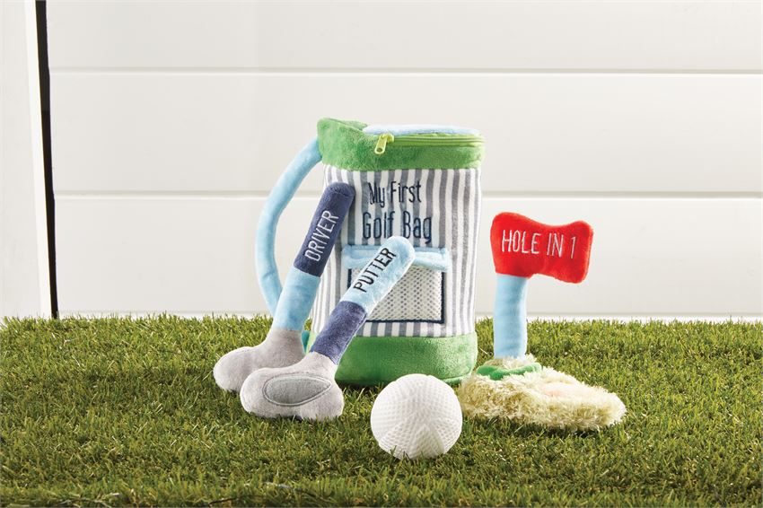 Mud Pie My Golf Bag Plush Set