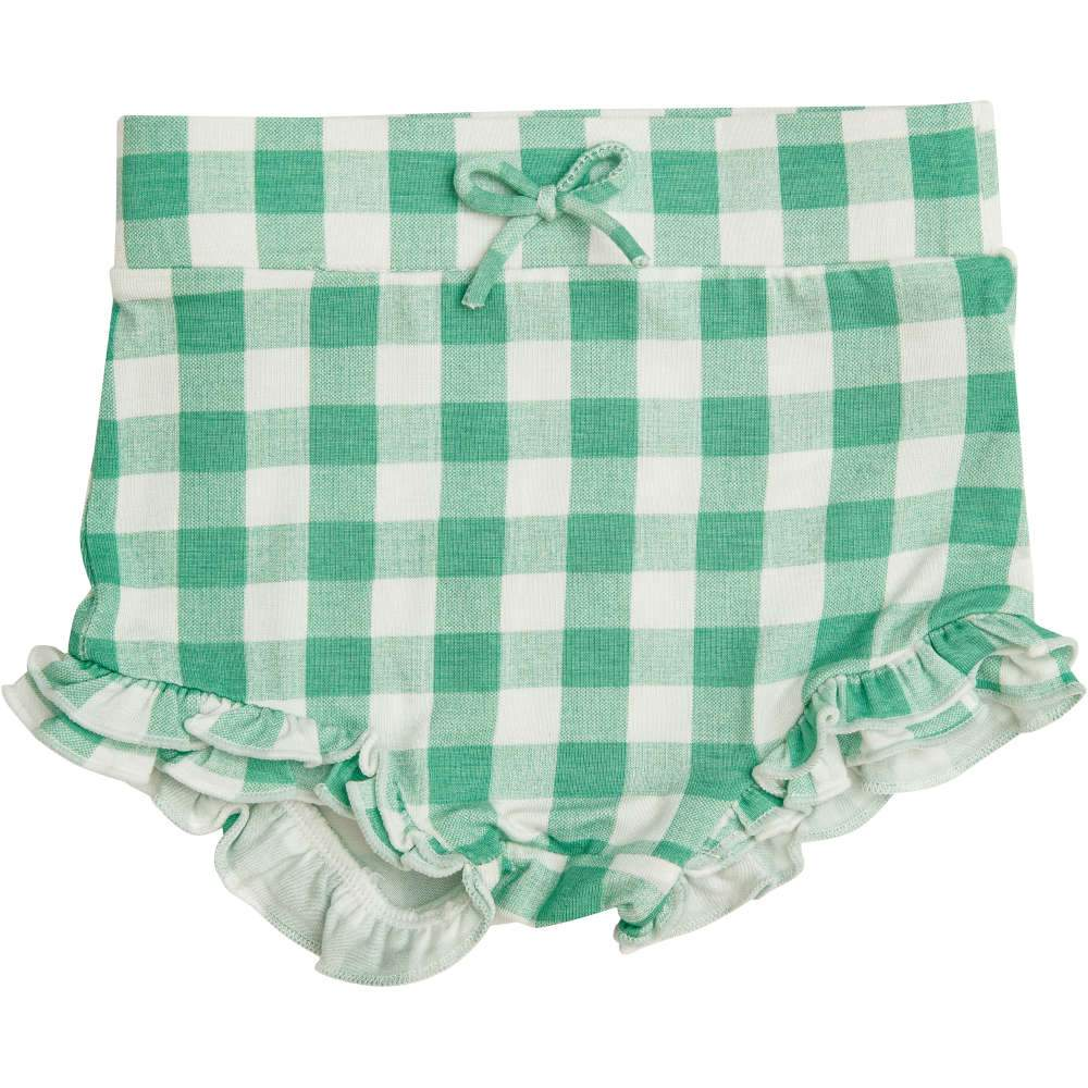Angel Dear Gingham High Waist Shorts Green
