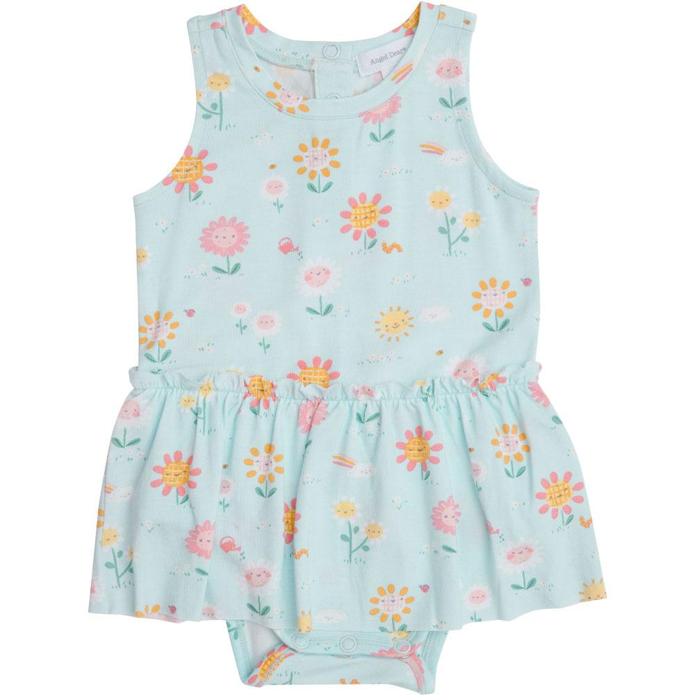 Angel Dear Hello Daisy Bodysuit with Skirt Blue