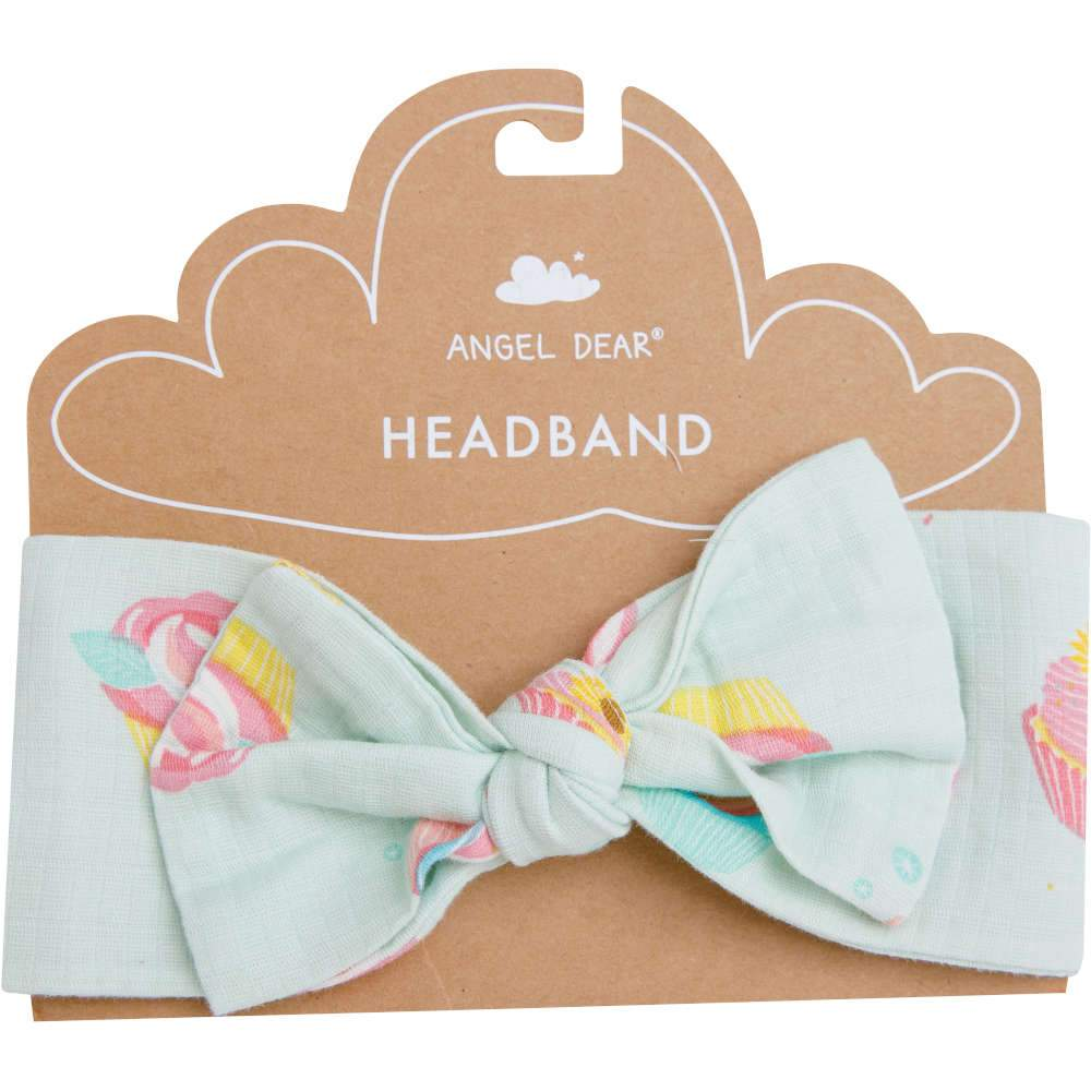 Angel Dear Cupcake Headband Blue