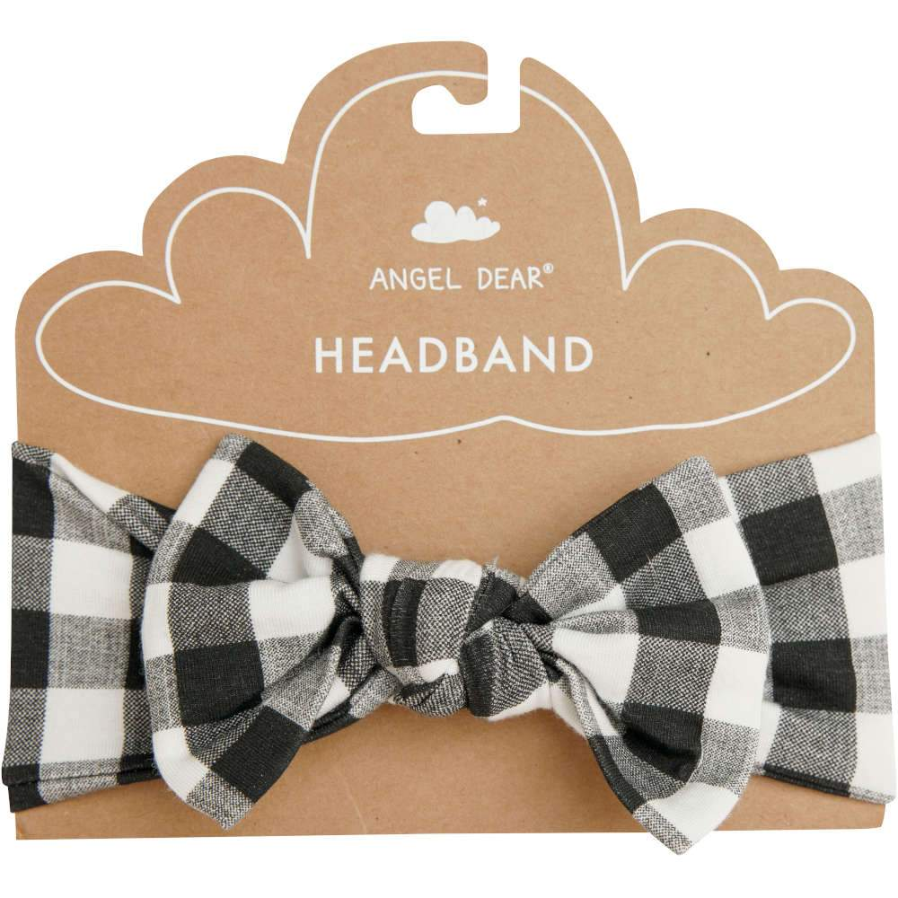 Angel Dear Gingham Headband Black