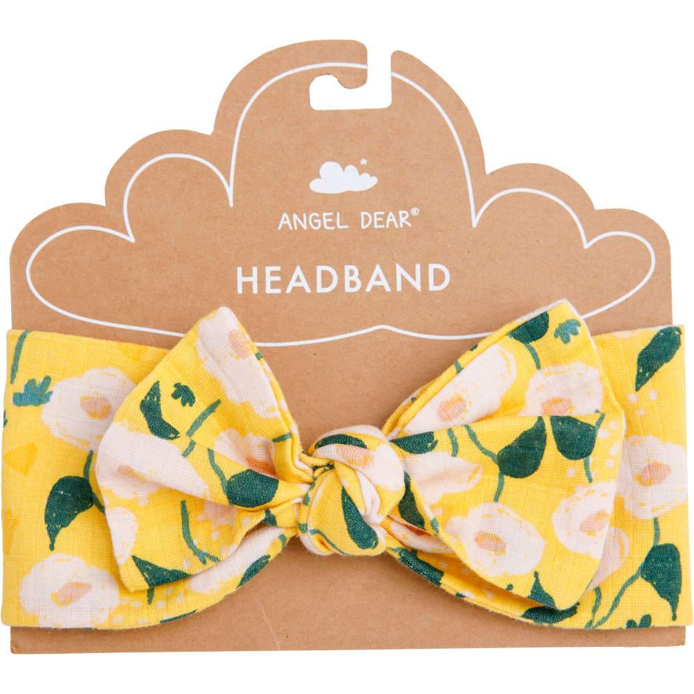 Angel Dear Golden Floral Headband Yellow
