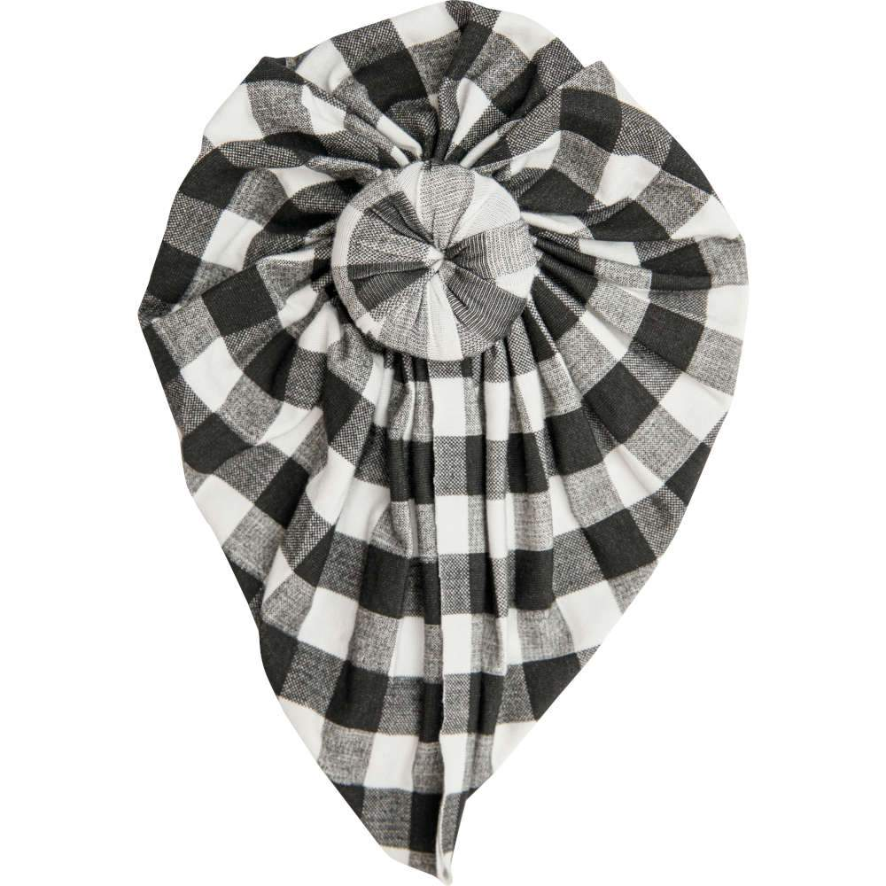 Angel Dear Gingham Headwrap Black