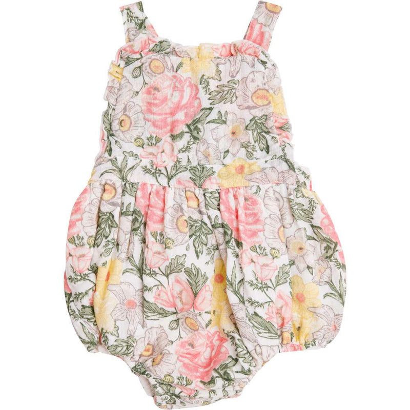 Angel Dear Traditional Floral Ruffle Bib Bubble Multi