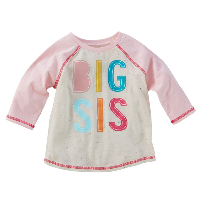 Mud Pie Big Sis Shirt And Pennant Set