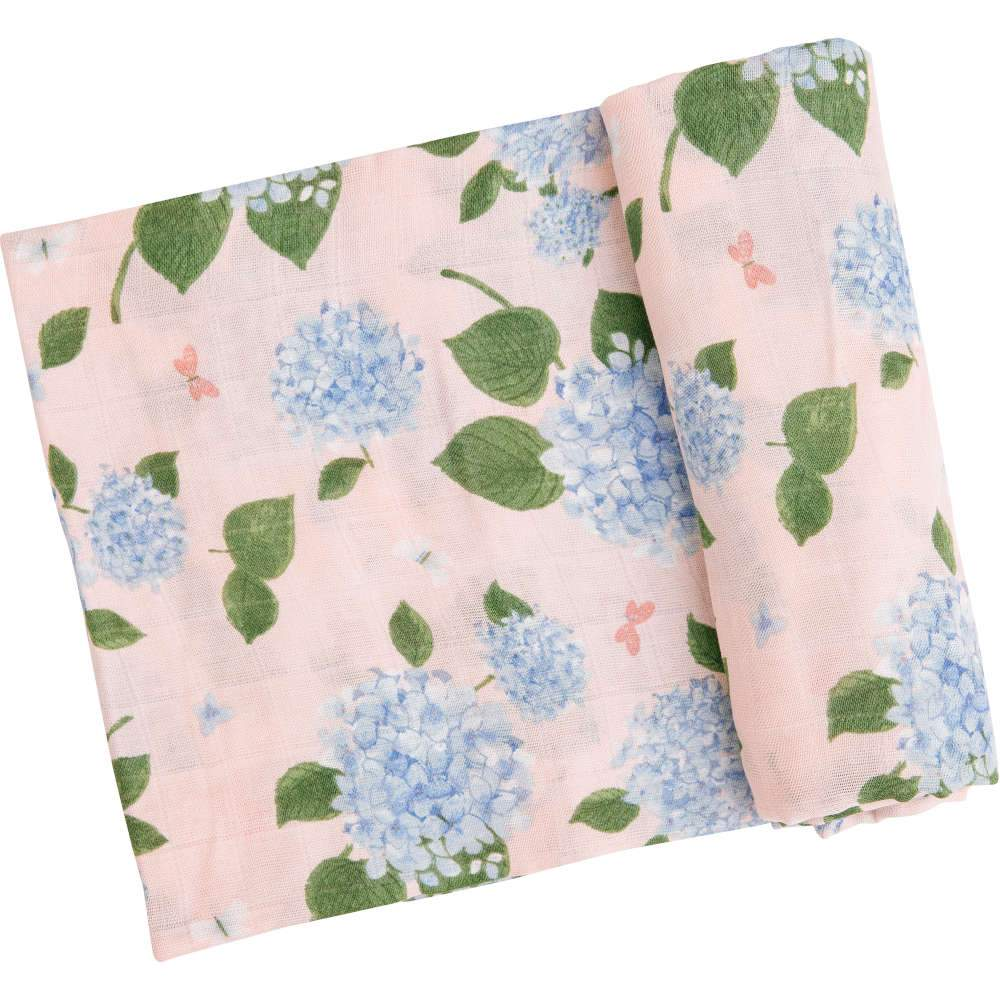 Angel Dear Hydrangea Swaddle Blanket Pink