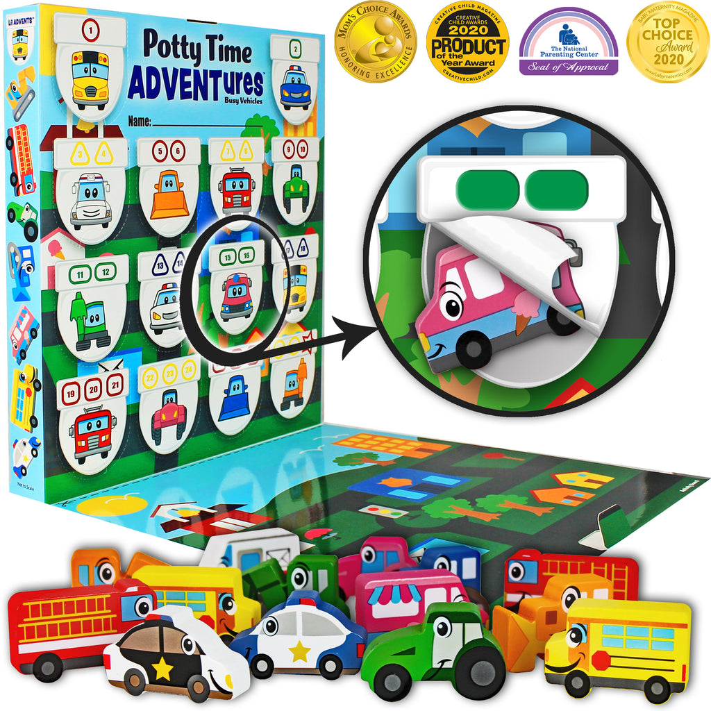 Lil Advents Potty Time Adventures Busy Vehicles