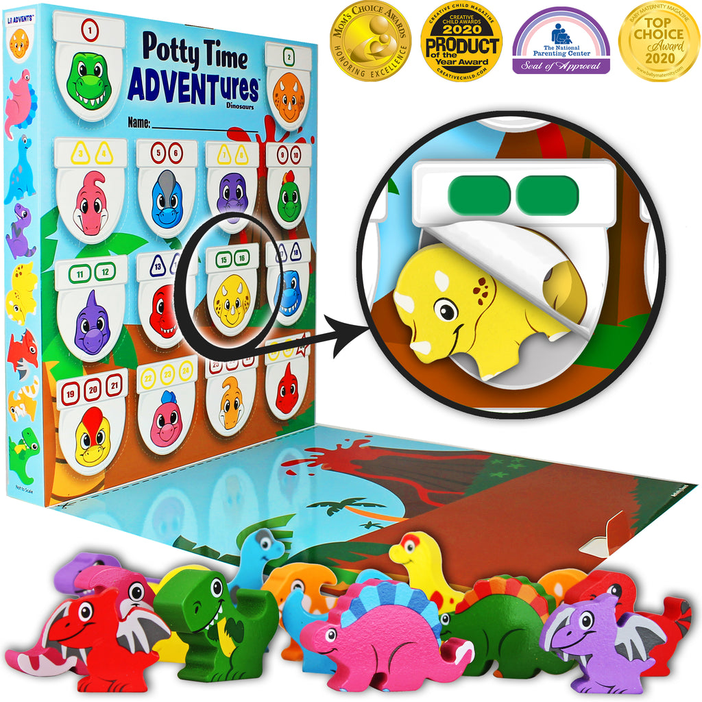 Lil Advents Potty Time Adventures Dinosaurs