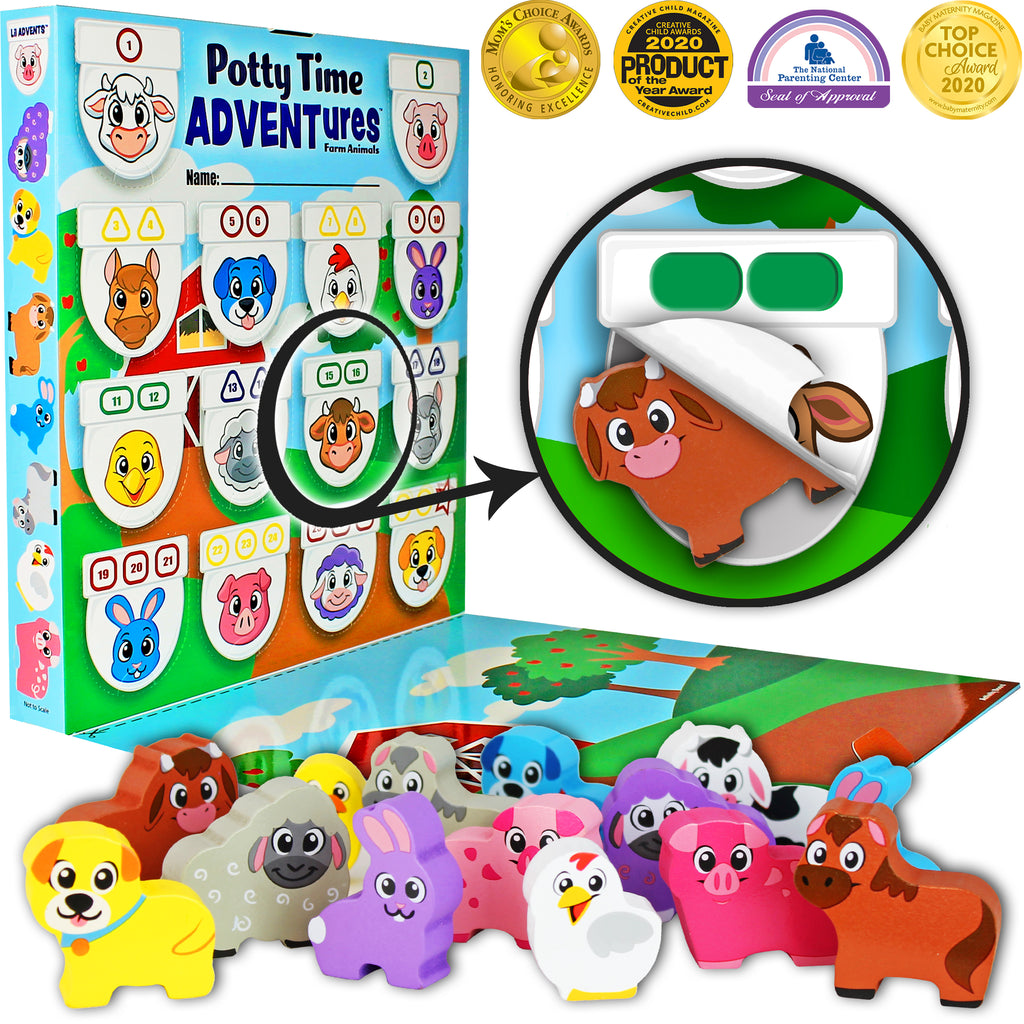 Lil Advents Potty Time Adventures Farm Animals