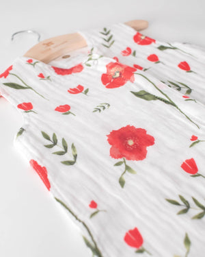 Little Unicorn Cotton Muslin Sleep Bag Medium - Summer Poppy