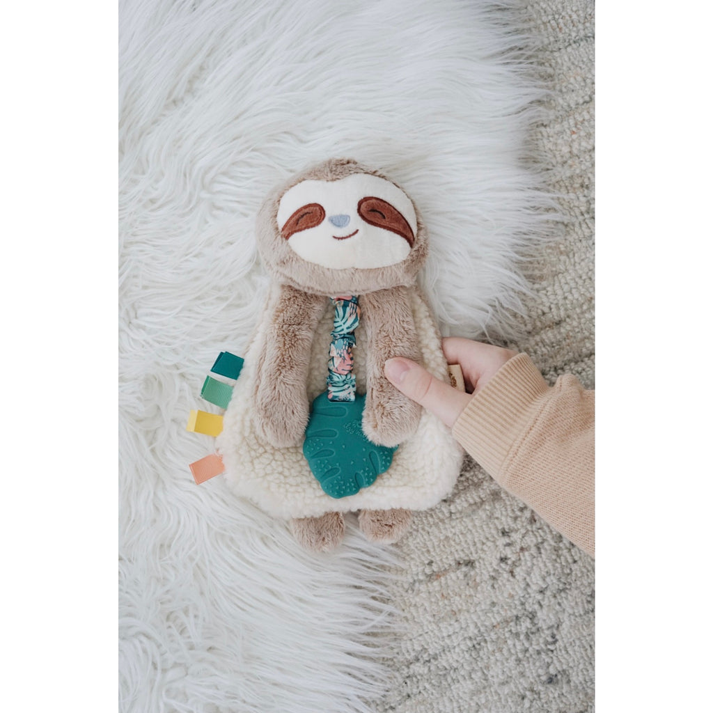 Itzy Ritzy Lovey Sloth Plush w/ Silicone Teether Toy