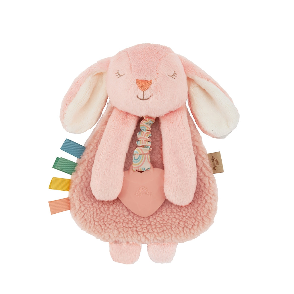 Itzy Ritzy Lovey Bunny Plush w/ Silicone Teether Toy