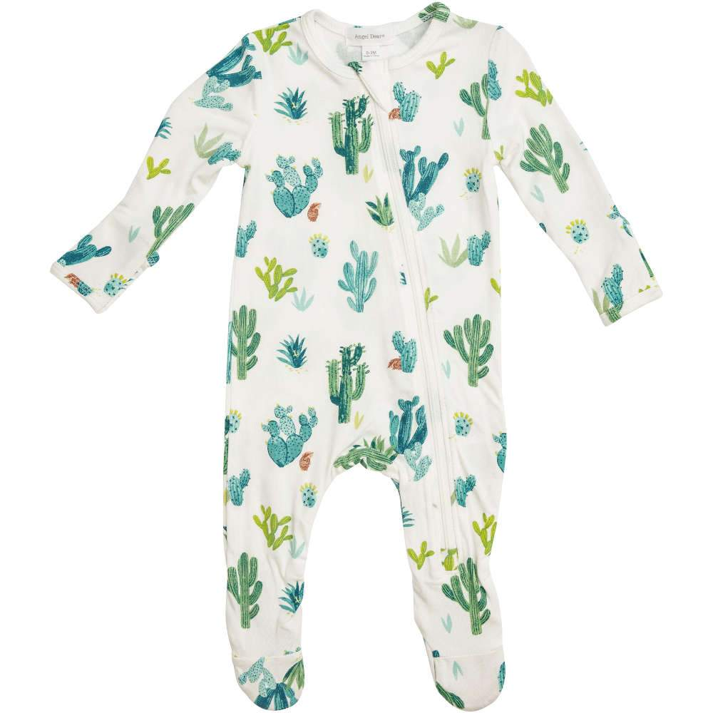 Angel Dear Cactus Zipper Footie Ivory