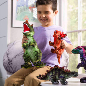 Hearthsong Plush Colorful Dino Collection Set of 5