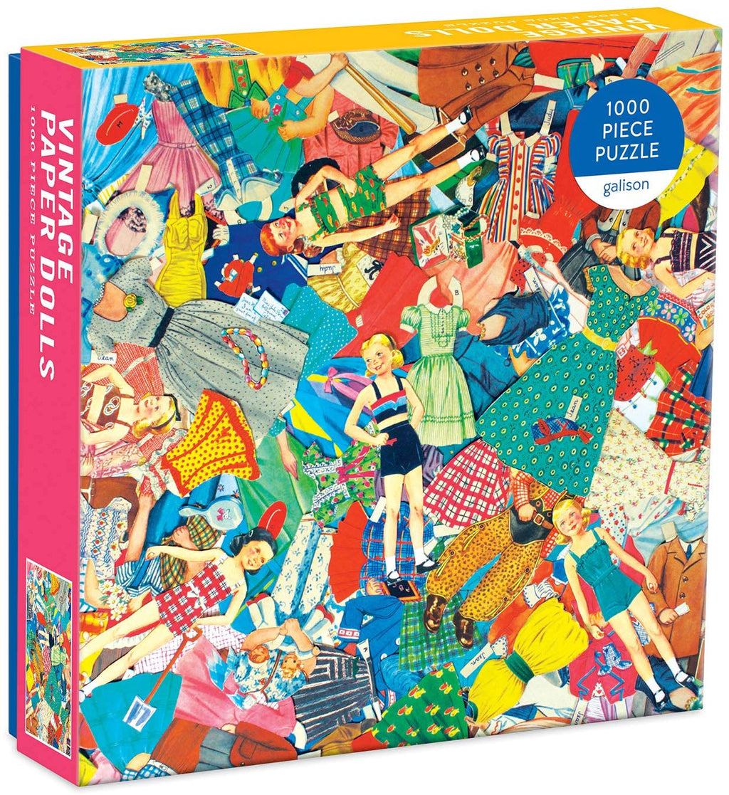 Galison Vintage Paper Dolls Puzzle, 1,000 Pieces