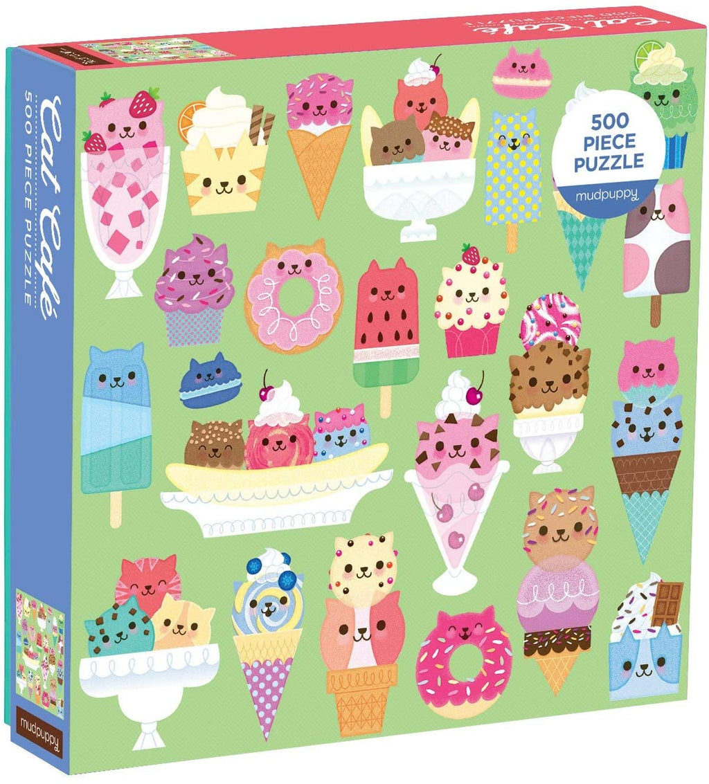 Mudpuppy Cat Cafe 500 Piece Jigsaw Puzzle for Families