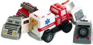 Popular Playthings Magnetic Build-A-Truck Rescue