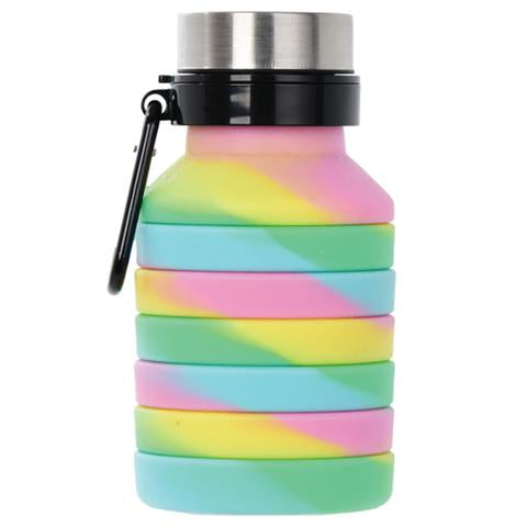 Iscream Tie Dye Silicone Collapsible Water Bottle