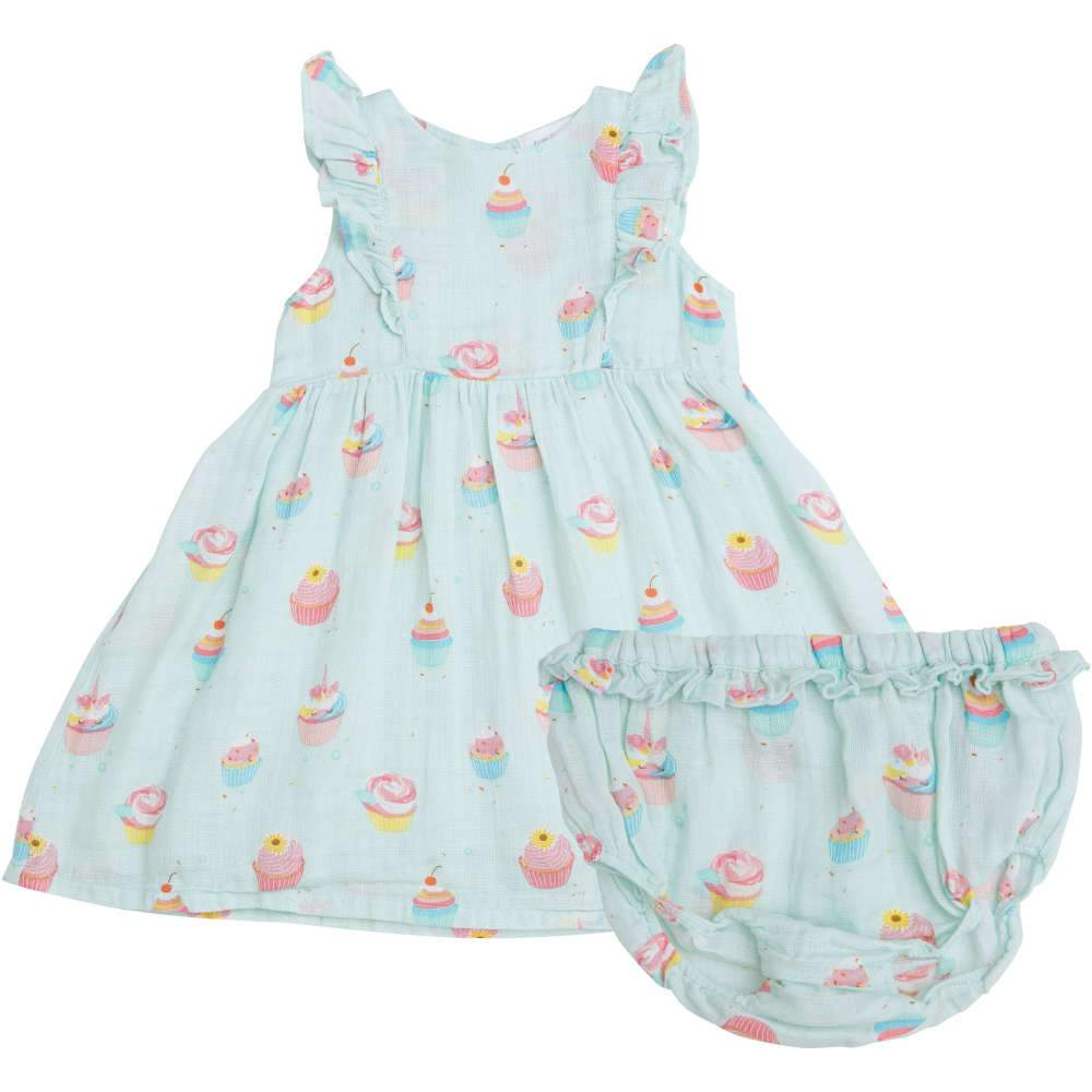 Angel Dear Cupcake Dress + Diaper Cover Blue