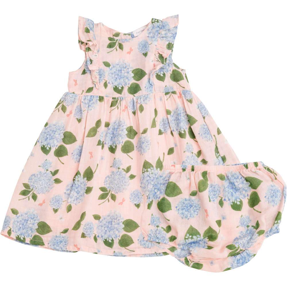 Angel Dear Hydrangea Dress & Diaper Cover Pink