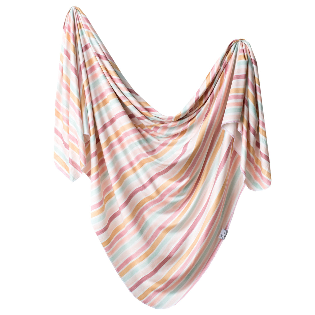 Copper Pearl Knit Swaddle Blanket | Belle