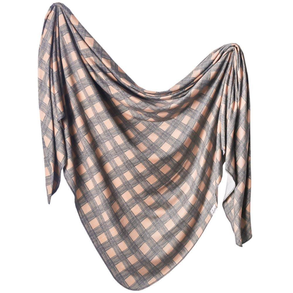 Copper Pearl Knit Swaddle Blanket | Billy