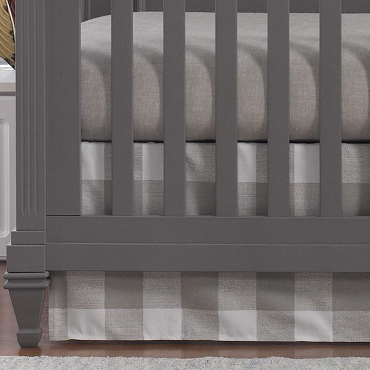 Liz & Roo Buffalo Check (Taupe) Crib Skirt 17