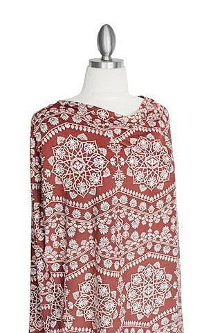Covered Goods 4-in-1 Nursing Cover Marsala Mandala