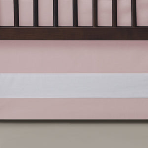 Oilo Solid Crib Skirt Blush