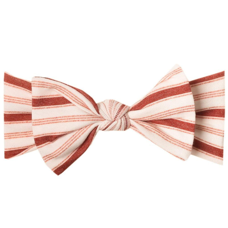 Copper Pearl Knit Headband Bow | Cinnamon