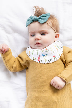 Copper Pearl Fashion Bib Set - Scarlet