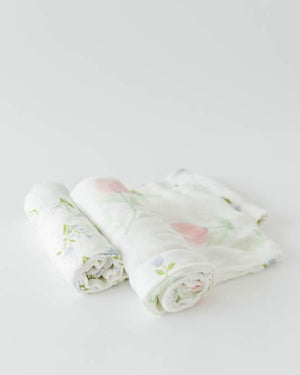 Little Unicorn Deluxe Swaddle Set - Pink Peony