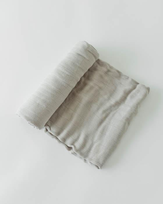 Little Unicorn Deluxe Swaddle - Warm Grey
