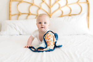 Copper Pearl Three-Layer Security Blanket Set - Citrus