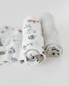 Little Unicorn Organic Cotton Swaddle Set - Forest Friends