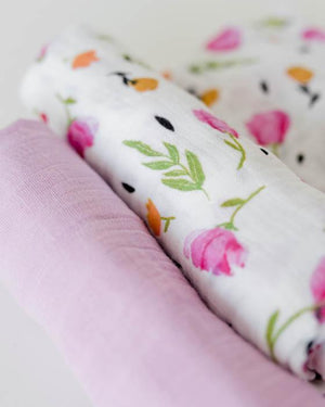 Little Unicorn Organic Cotton Swaddle Set - Berry & Bloom