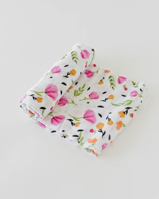 Little Unicorn Organic Cotton Swaddle - Berry & Bloom