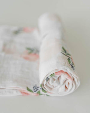Little Unicorn Cotton Swaddle - Watercolor Rose