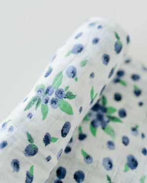 Little Unicorn Cotton Swaddle - Blueberry