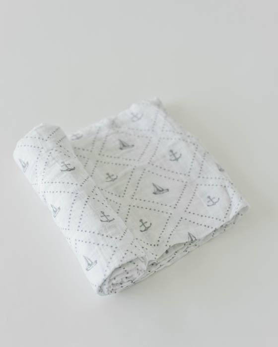 Little Unicorn Cotton Swaddle - Anchors Aweigh