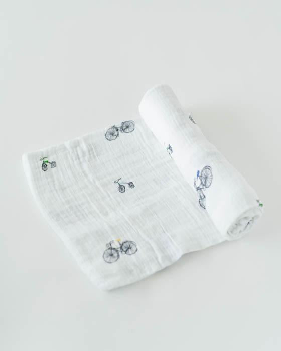 Little Unicorn Cotton Swaddle - Bike Family