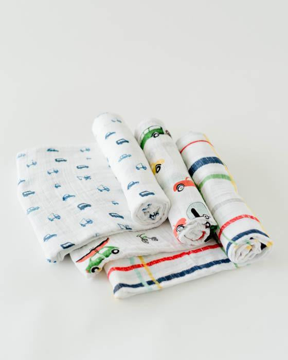 Little Unicorn Cotton Swaddle Set - Traffic Jam