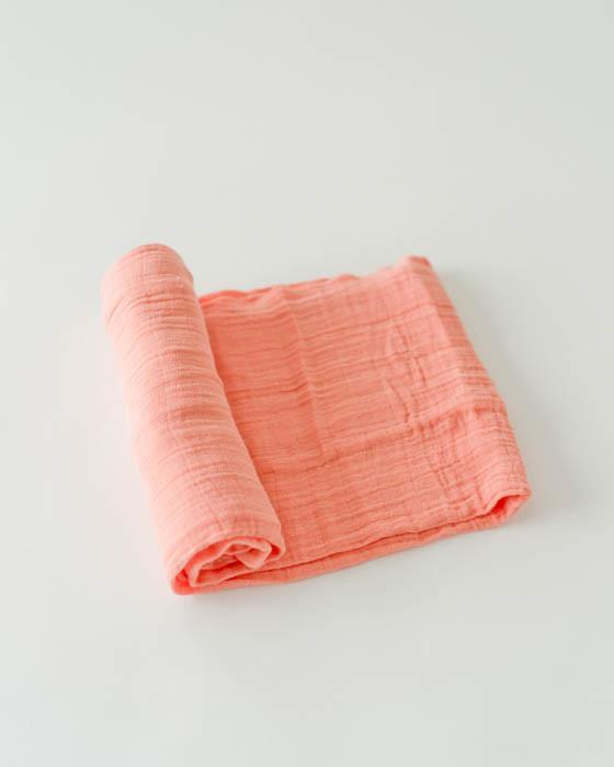 Little Unicorn Cotton Swaddle - Coral